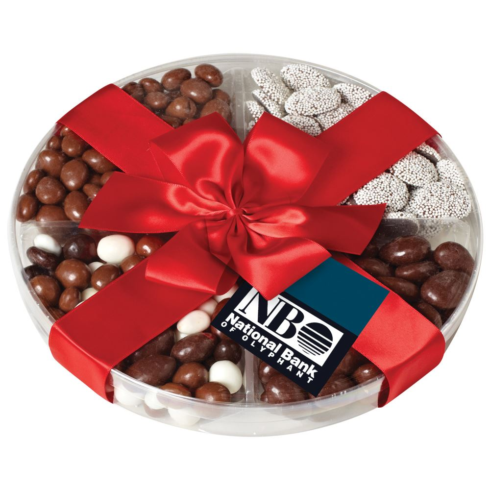 Deluxe 4-Way Sampler With Chocolate Assortment - Personalization Available