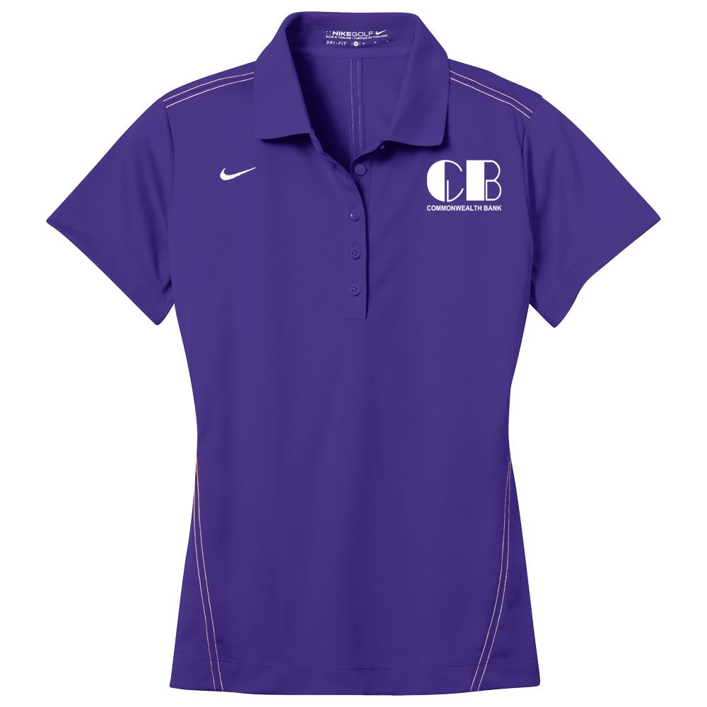 Nike® Women's Dri-Fit Sport Swoosh Pique Polo - Personalization Available