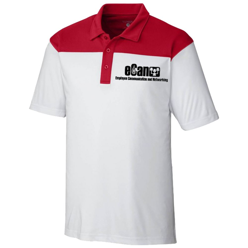 Clique® Men's Parma Colorblock Polo - Personalization Available
