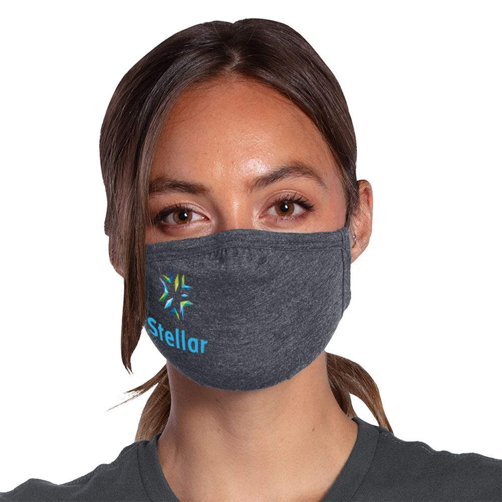 Allmade 2-Ply Tri-Blend Organic Face Mask - Full Color Personalization Available