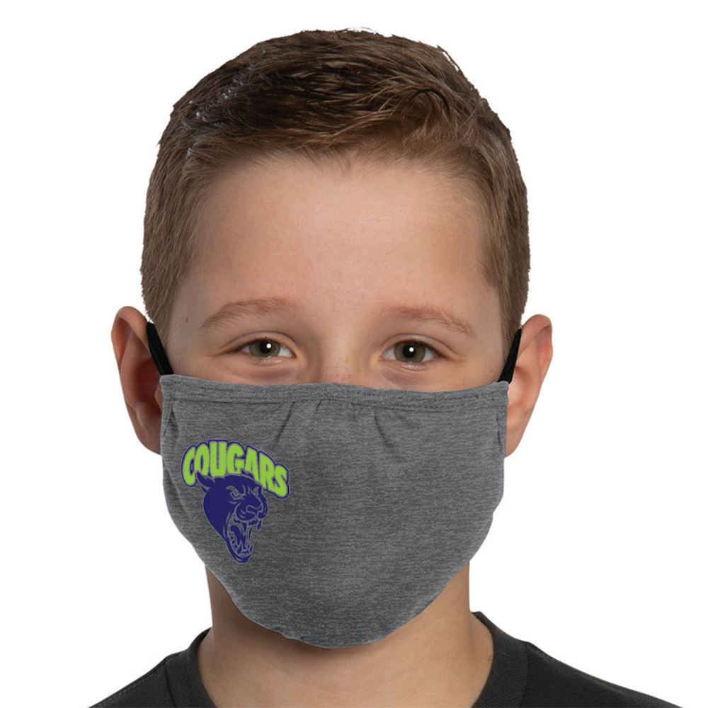 3-Ply District V.I.T. Shaped Youth Face Mask - Full Color Personalization Available