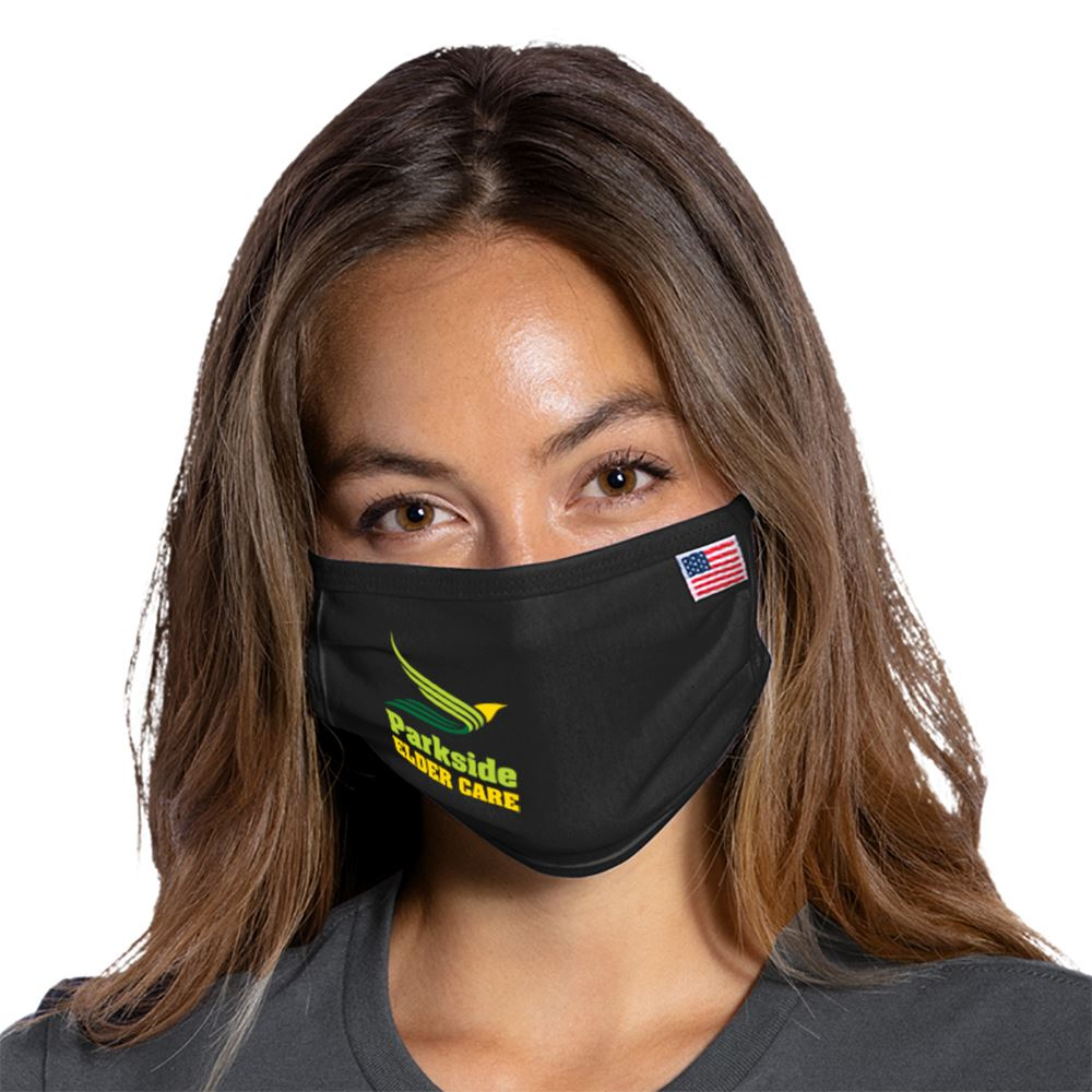 Port Authority All American Cotton Knit Face Mask - Full Color Personalization Available