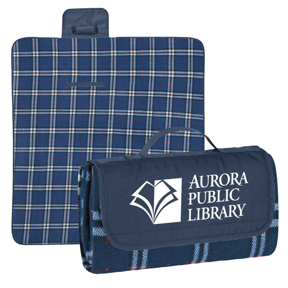 Fleece Roll-Up Picnic Blanket - Personalization Available