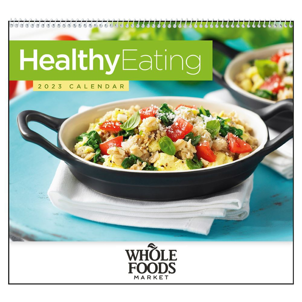 Healthy Eating 2021 Wall Calendar - Spiral - Personalization Available