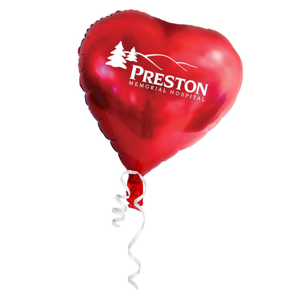 Heart-Shaped Foil Balloon - Personalization Available