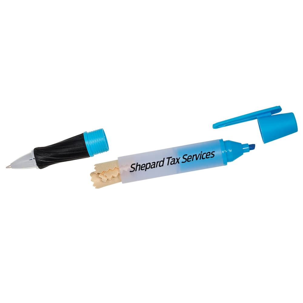 Highlighter Pen With Microfiber Cloth - Personalization Available