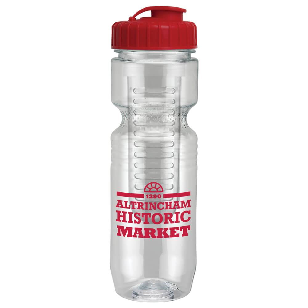 Translucent Jogger Bottle 26-oz. With Flip-Top Lid & Infuser - Personalization Available