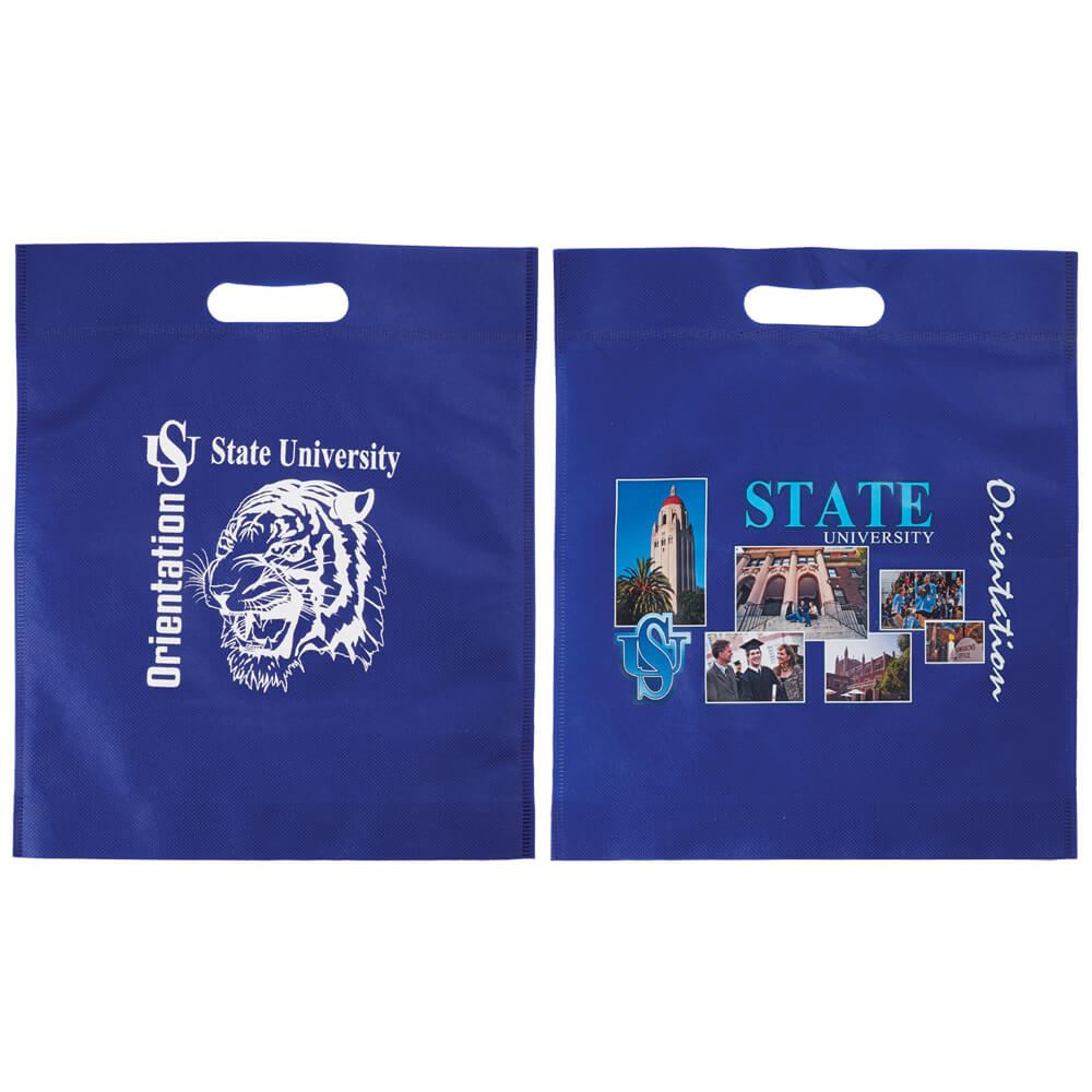 2-Sided Non-Woven Large Die-Cut Bag - Personalization Available