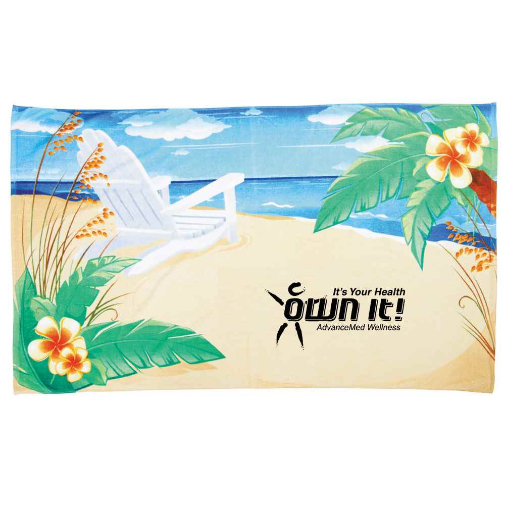 Plush Velour Beach Towel - Personalization Available