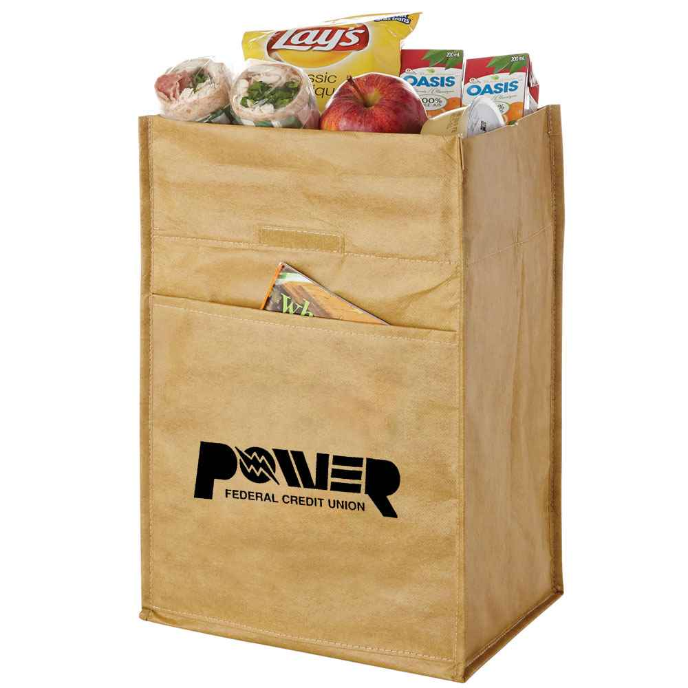 Paper Bag 12-Can Lunch Cooler - Personalization Available