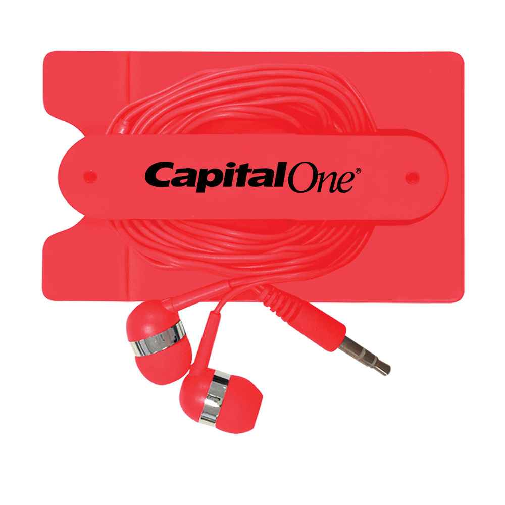 Phone Wallet with Earbuds - Personalization Available