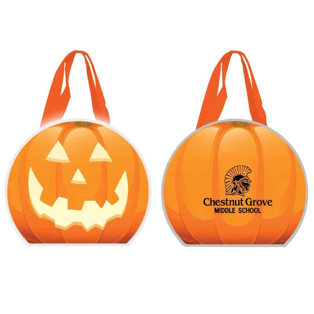 Reflective Halloween Pumpkin Non-Woven Tote Bag - Personalized