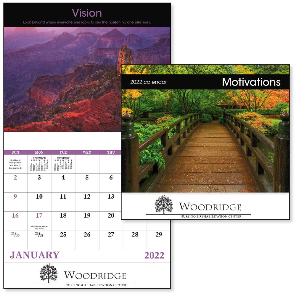 Motivations 2022 Wall Calendar - Stapled - Personalization Available
