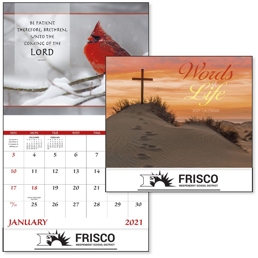 Words Of Life 2020 Calendar - Stapled - Personalization Available