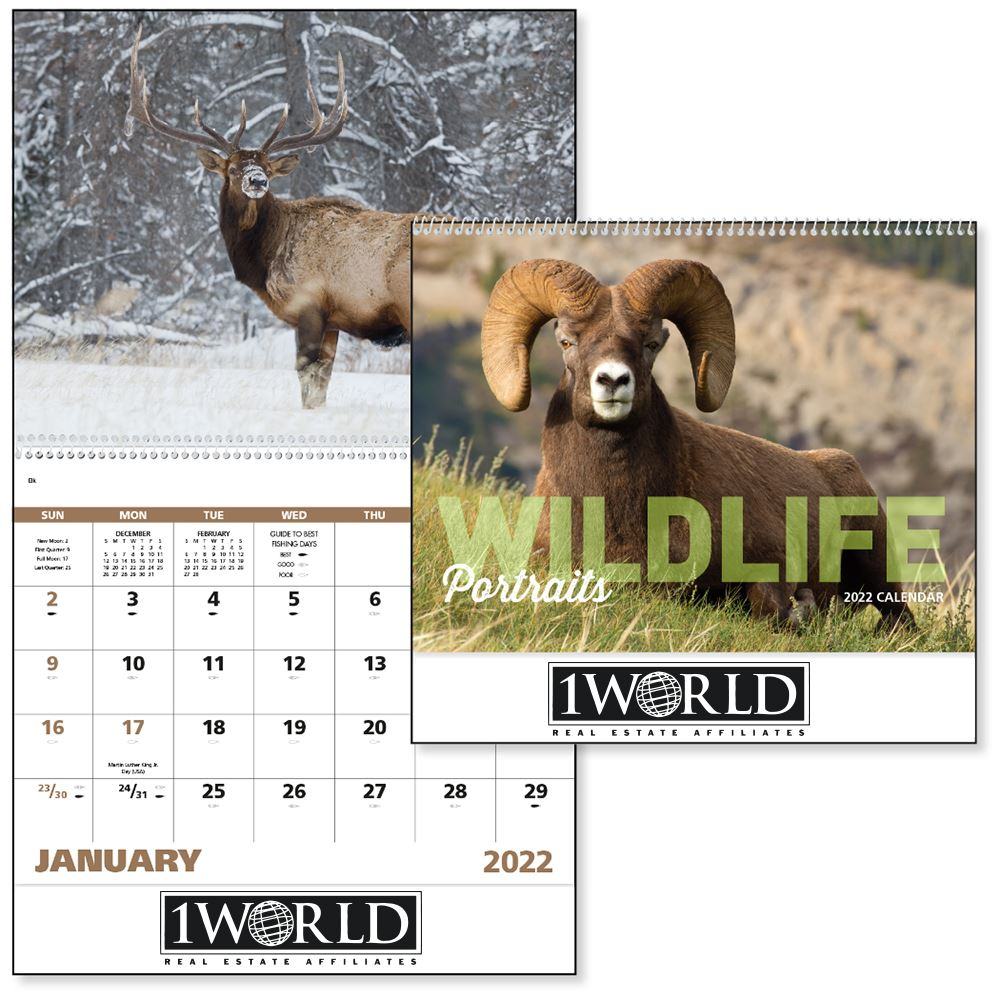 Wildlife Portraits 2022 Wall Calendar - Spiral - Add Your Personalization