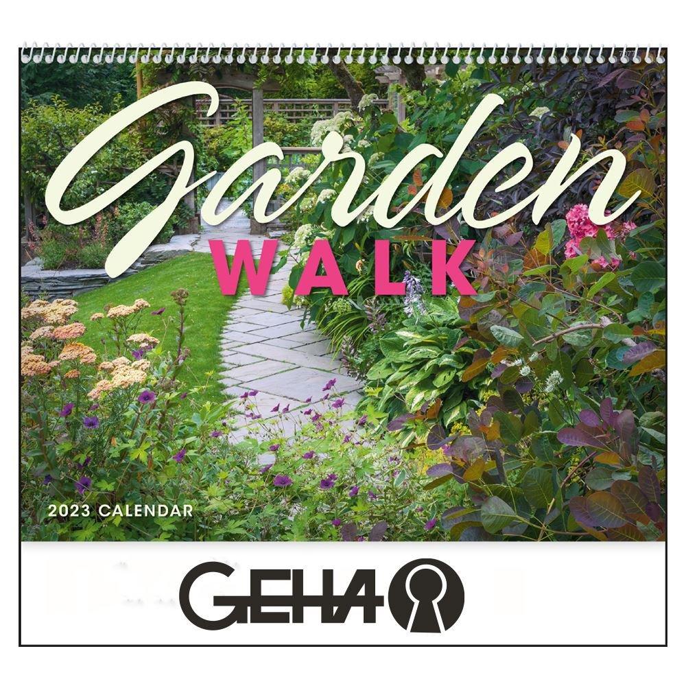 2022 Garden Walk Wall Calendar - Spiral - Personalization Available