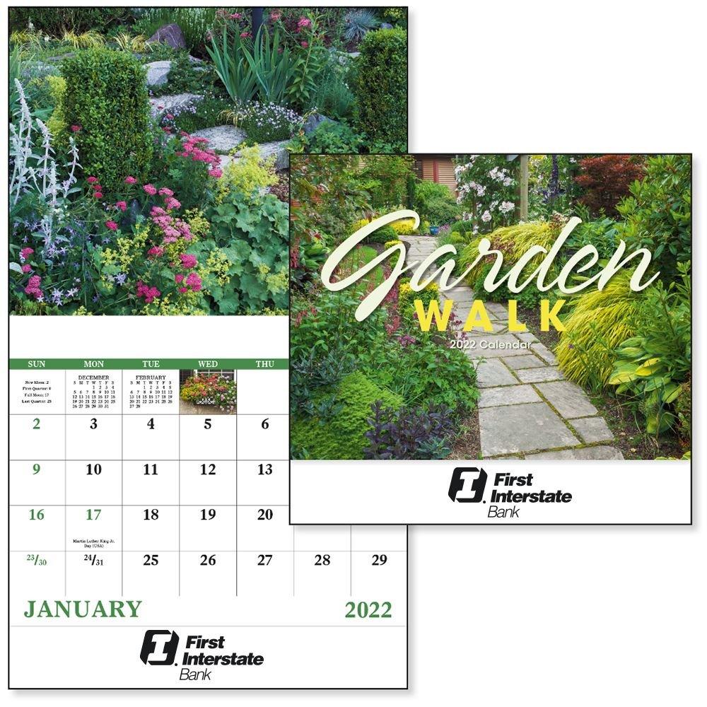 Garden Walk 2021 Wall Calendar - Stapled -�Add Your Personalization