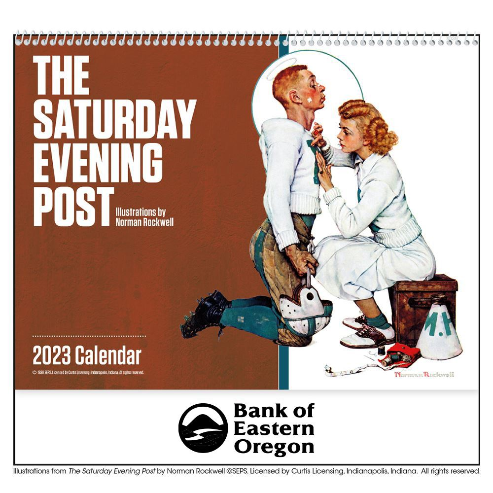 The Saturday Evening Post 2021 Calendar Norman Rockwell- Spiral - Add Your Personalization