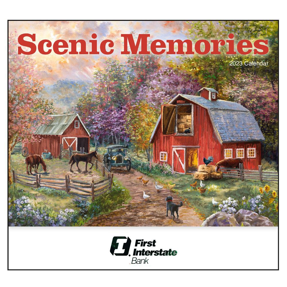 2020 Scenic Memories Wall Calendar - Stapled - Personalization Available