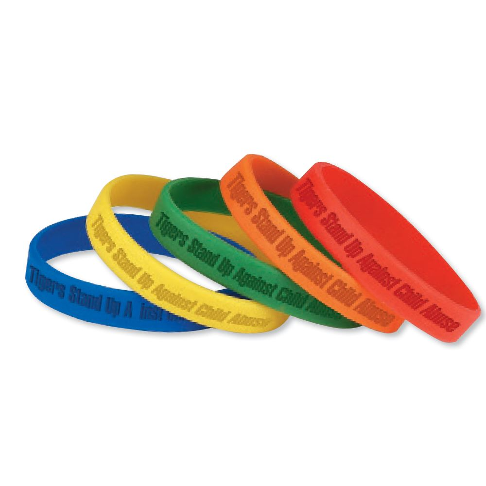 Debossed-Custom Youth Silicone Bracelets - Personalization Available