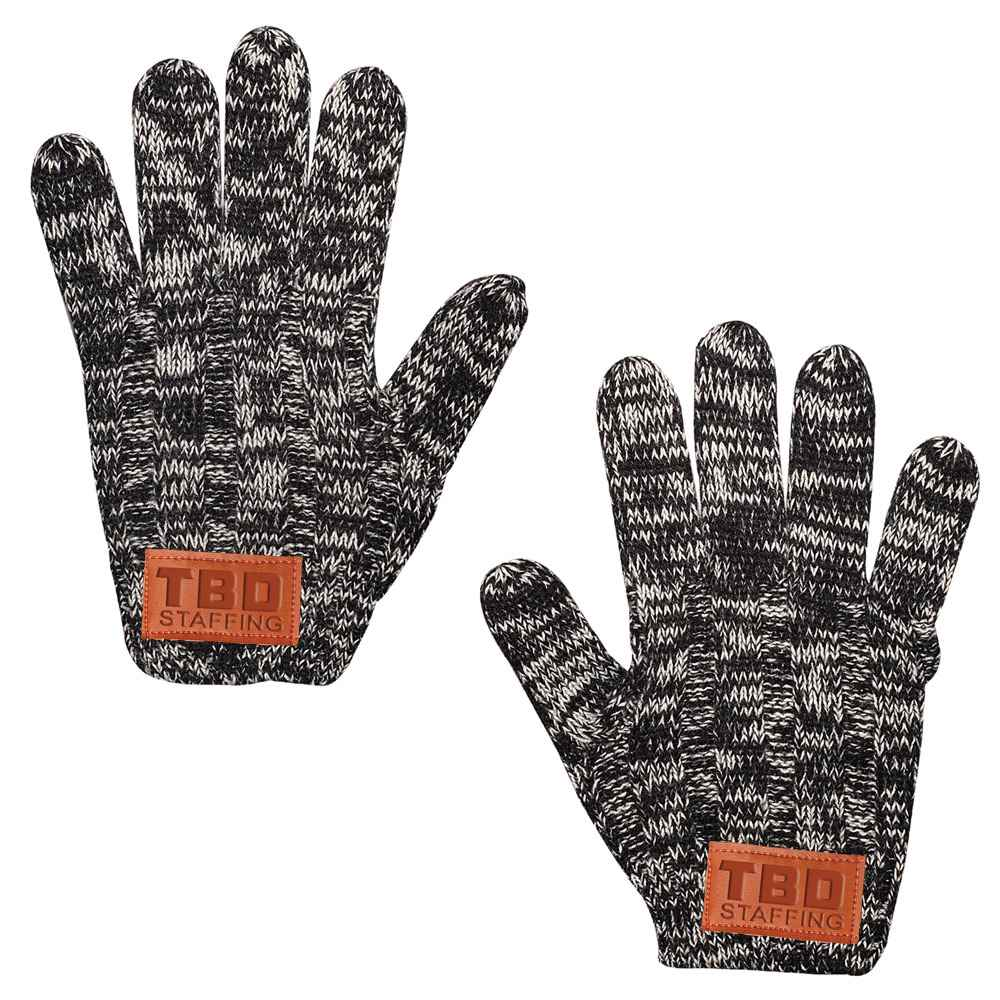 Leeman™ Heathered Knit Gloves - Personalization Available