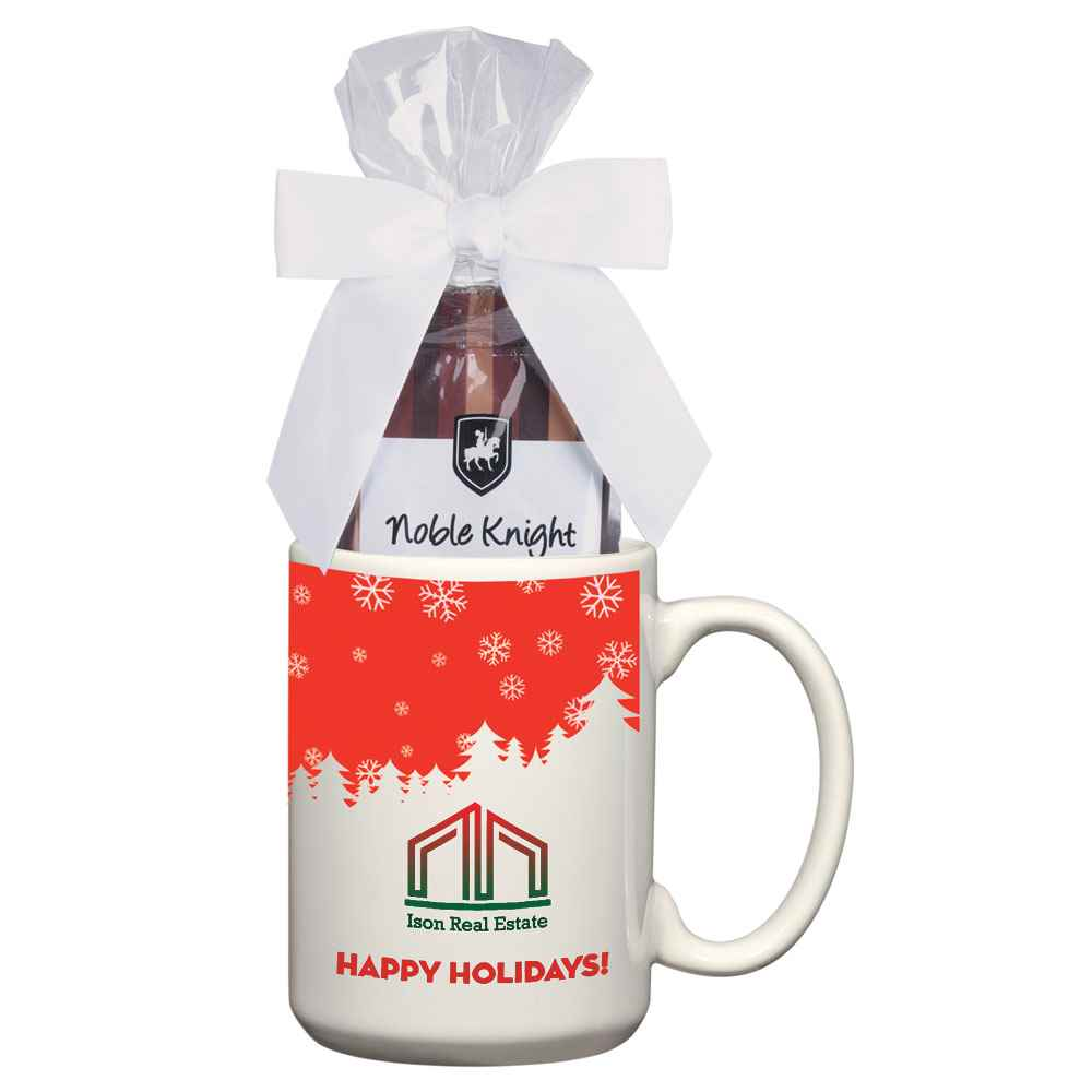 Full Color Mug With Two Packs Of Hot Cocoa - 15-Oz. - Personalization Available