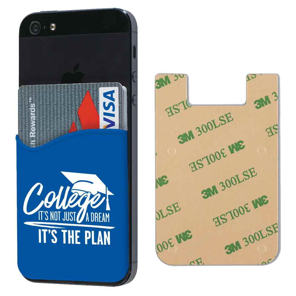 College: It's Not Just A Dream, It's The Plan™ Silicone Phone Wallet