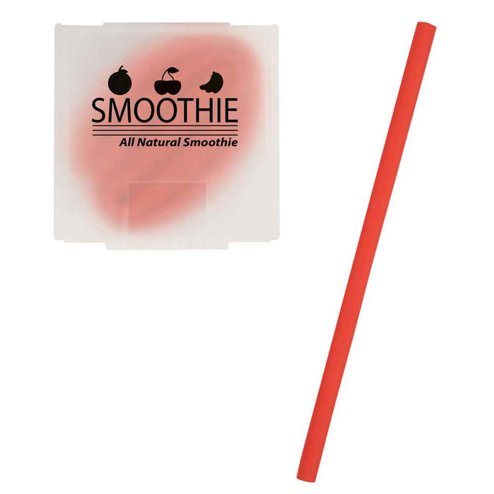 Silicone Straw In Case - Personalization Available
