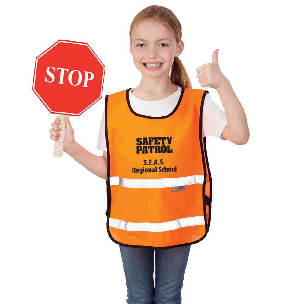 100% Tricot Mesh Youth Safety Vest - Personalization Available