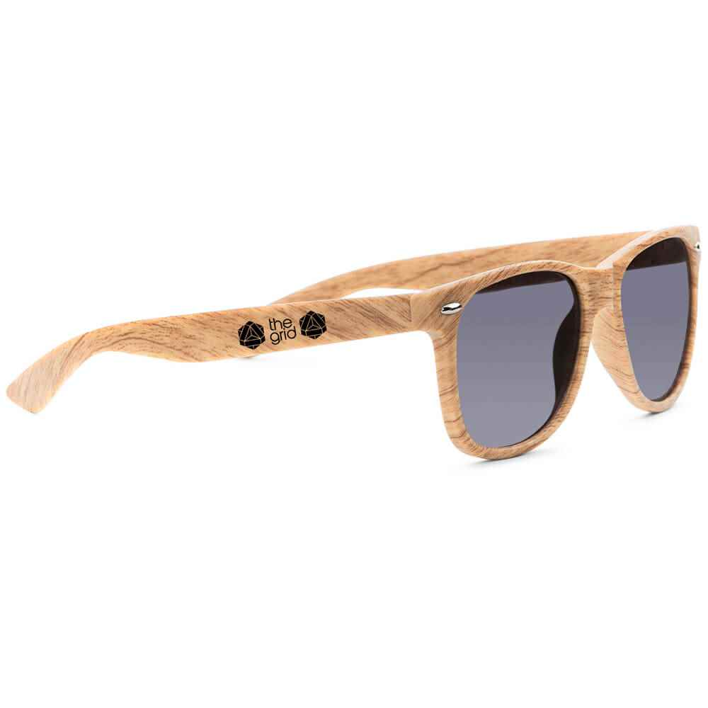 Wood Grain Allen Sunglasses - Personalization Available