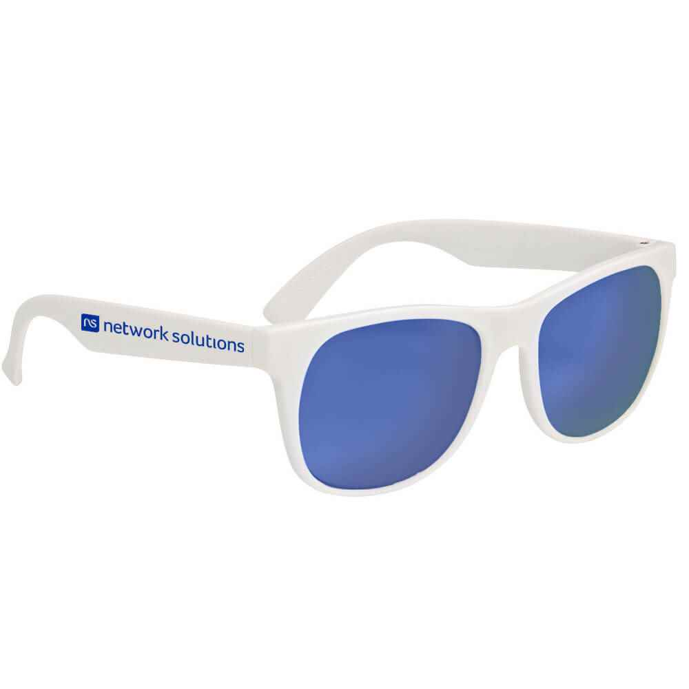 Rubberized Mirrored Sunglasses - Personalization Available