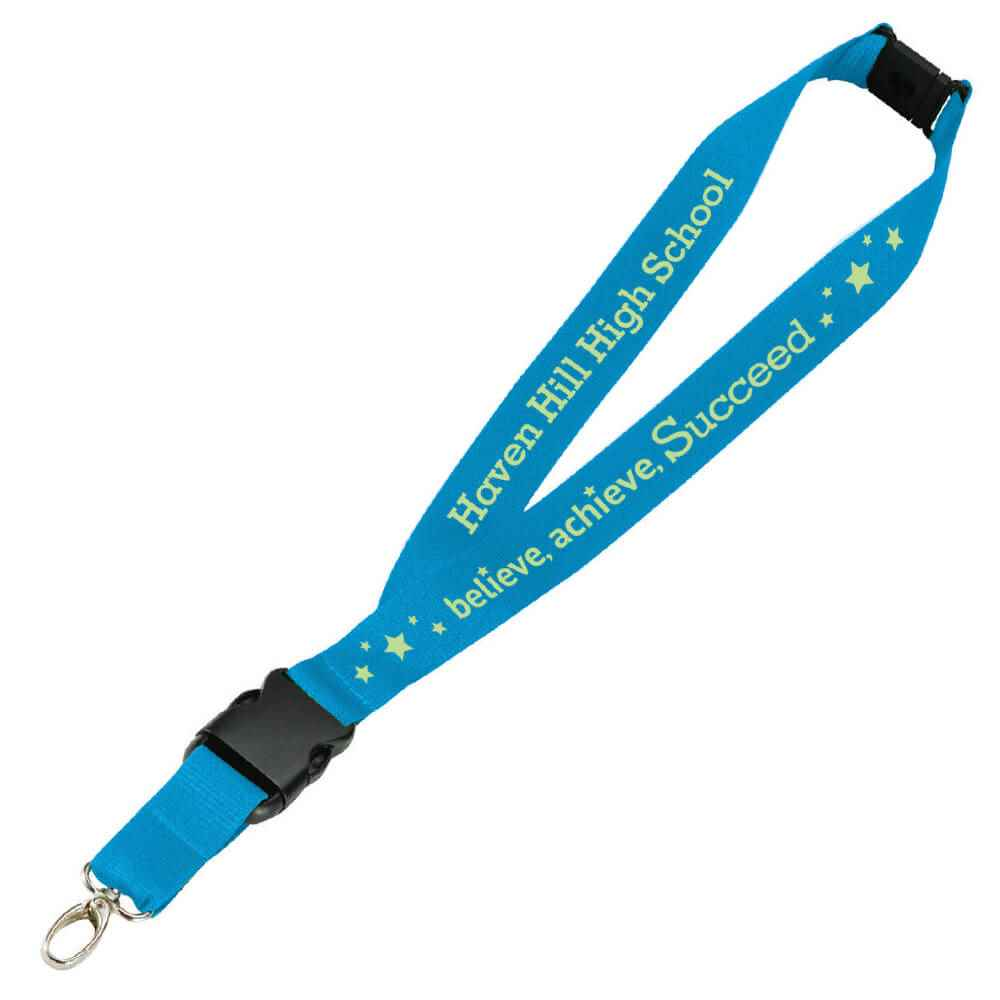 Believe, Achieve, Succeed Hang In There Lanyard with Personalization
