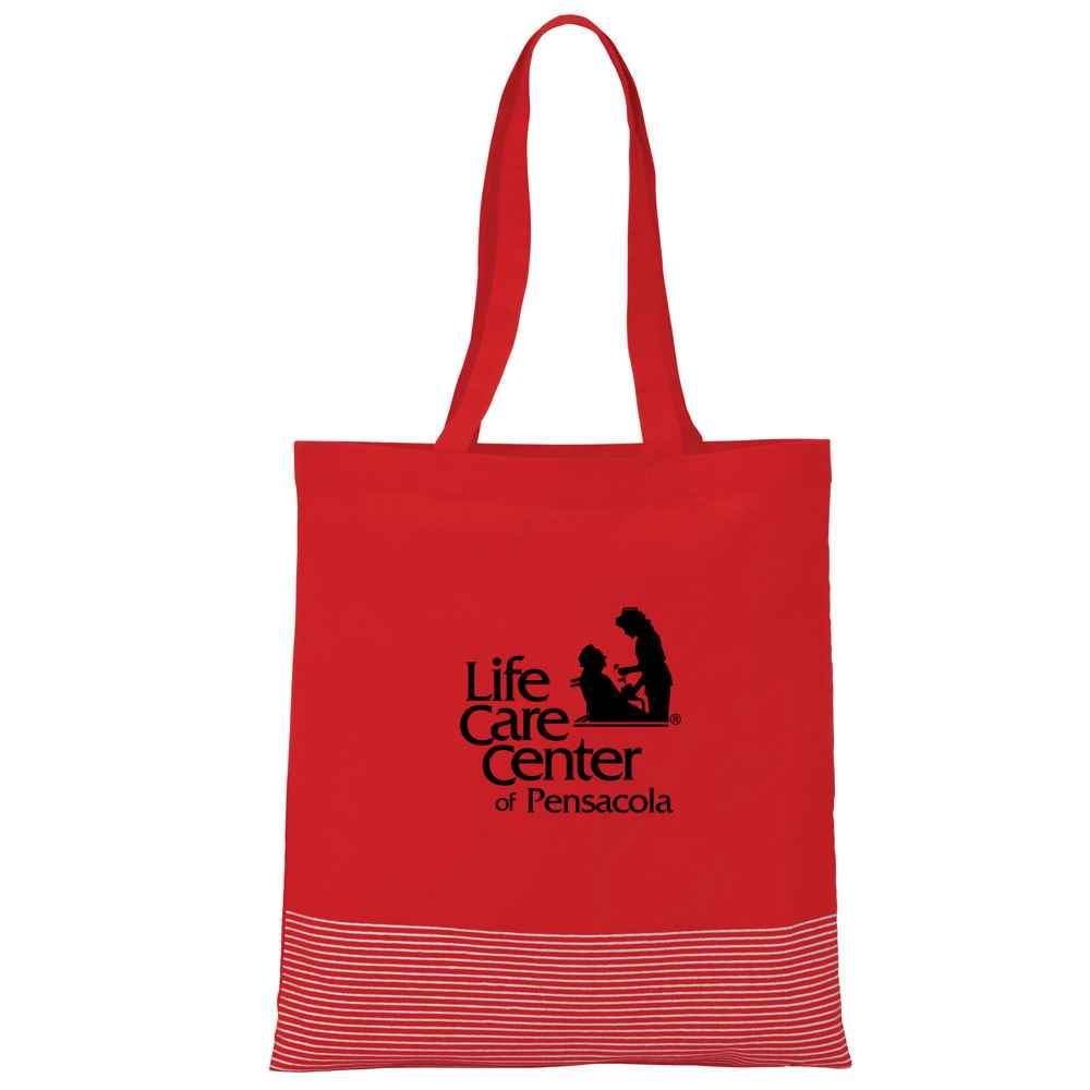 Silver Line Cotton Convention Tote - Personalization Available