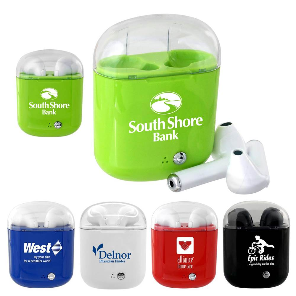 Periscope Bluetooth® Wireless Earbuds - Personalization Available