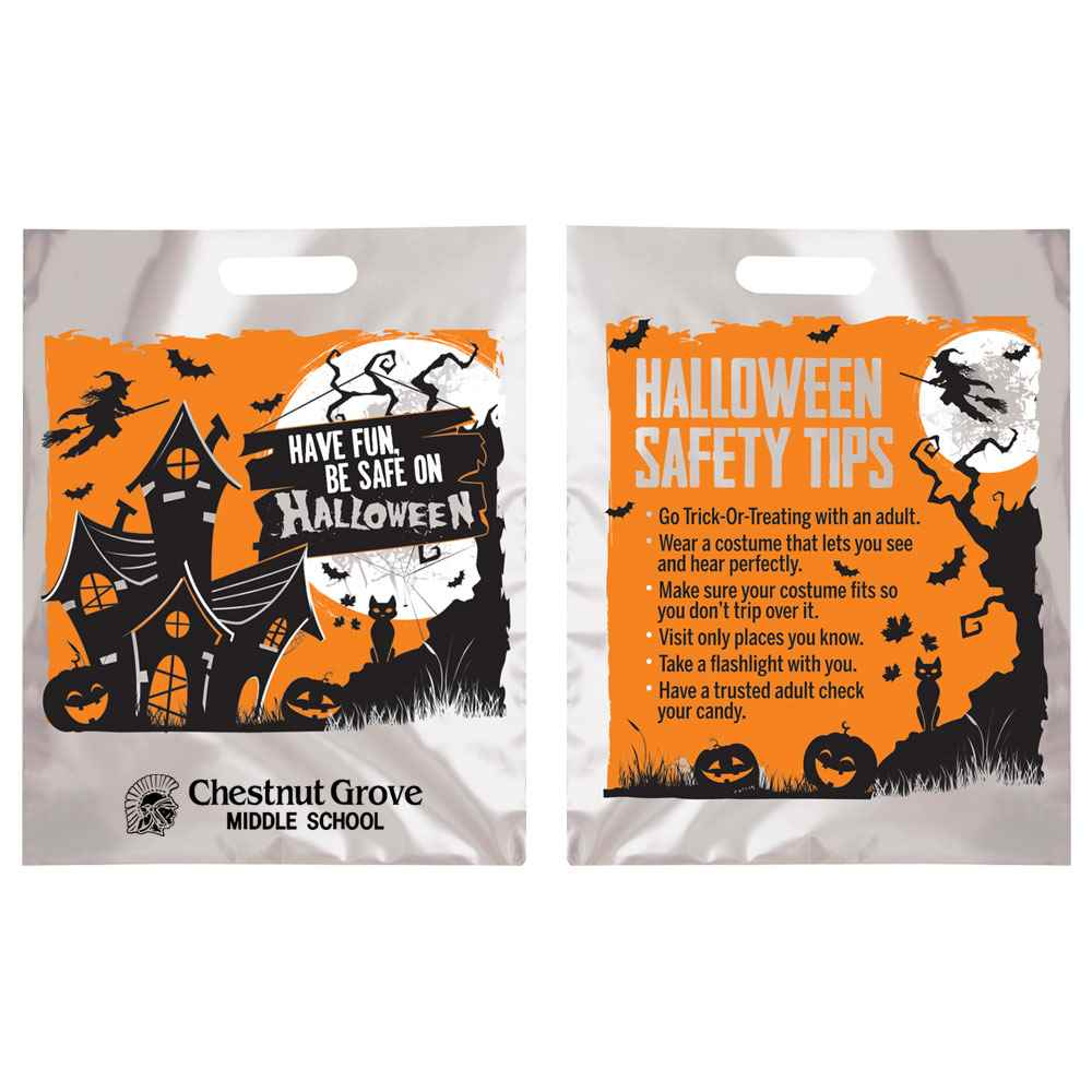 Halloween Trick Or Treat Bags Personalized.Have Fun Be Safe On Halloween Reflective Trick Or Treat Bag Personalized