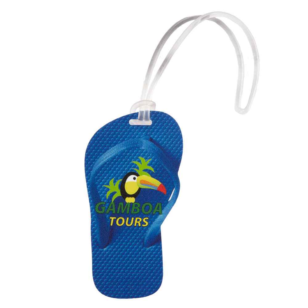 Flip Flop Luggage Tag - Full-Color Personalization Available