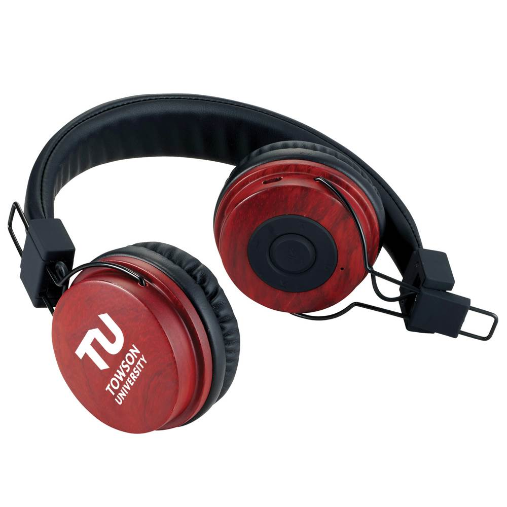 Mojave Wooden Bluetooth® Headphones - Personalization Available