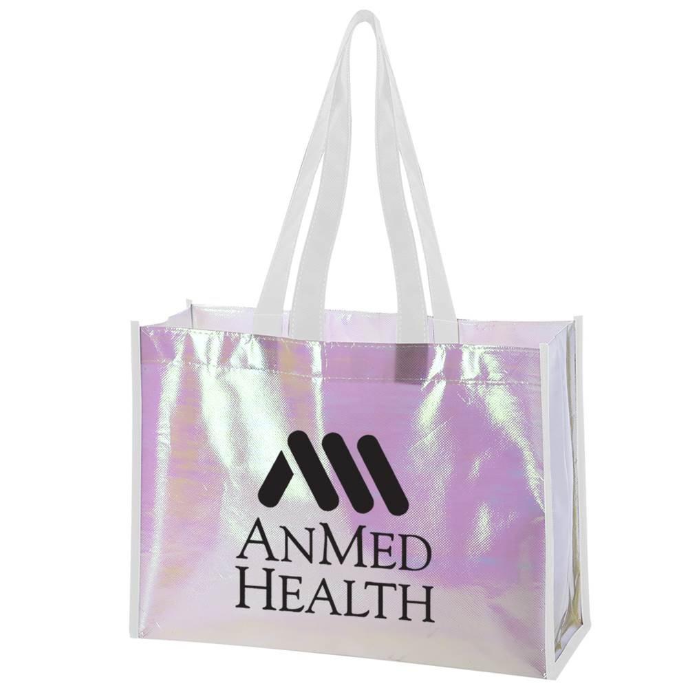 Mini Pearl Laminated Non-Woven Tote Bag - Personalization Available
