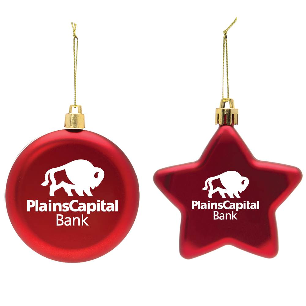Shatter-Resistant Flat Round Ornament - One-Color Personalization Available