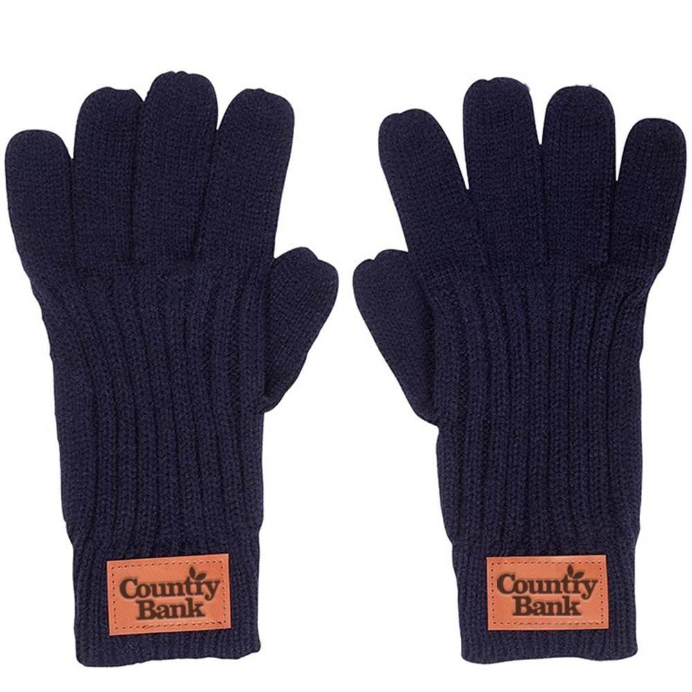 Leeman™ Rib Knit Gloves - Debossed Personalization Available