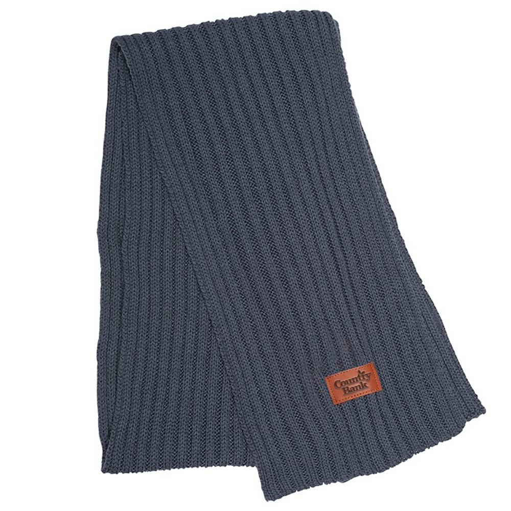 Leeman™ Rib Knit Scarf - Personalization Available