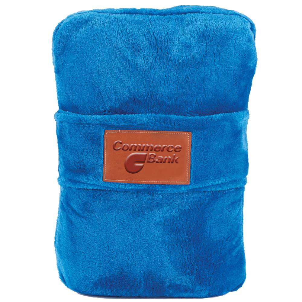 Leeman™ Duo Travel Pillow Blanket - Personalization Available