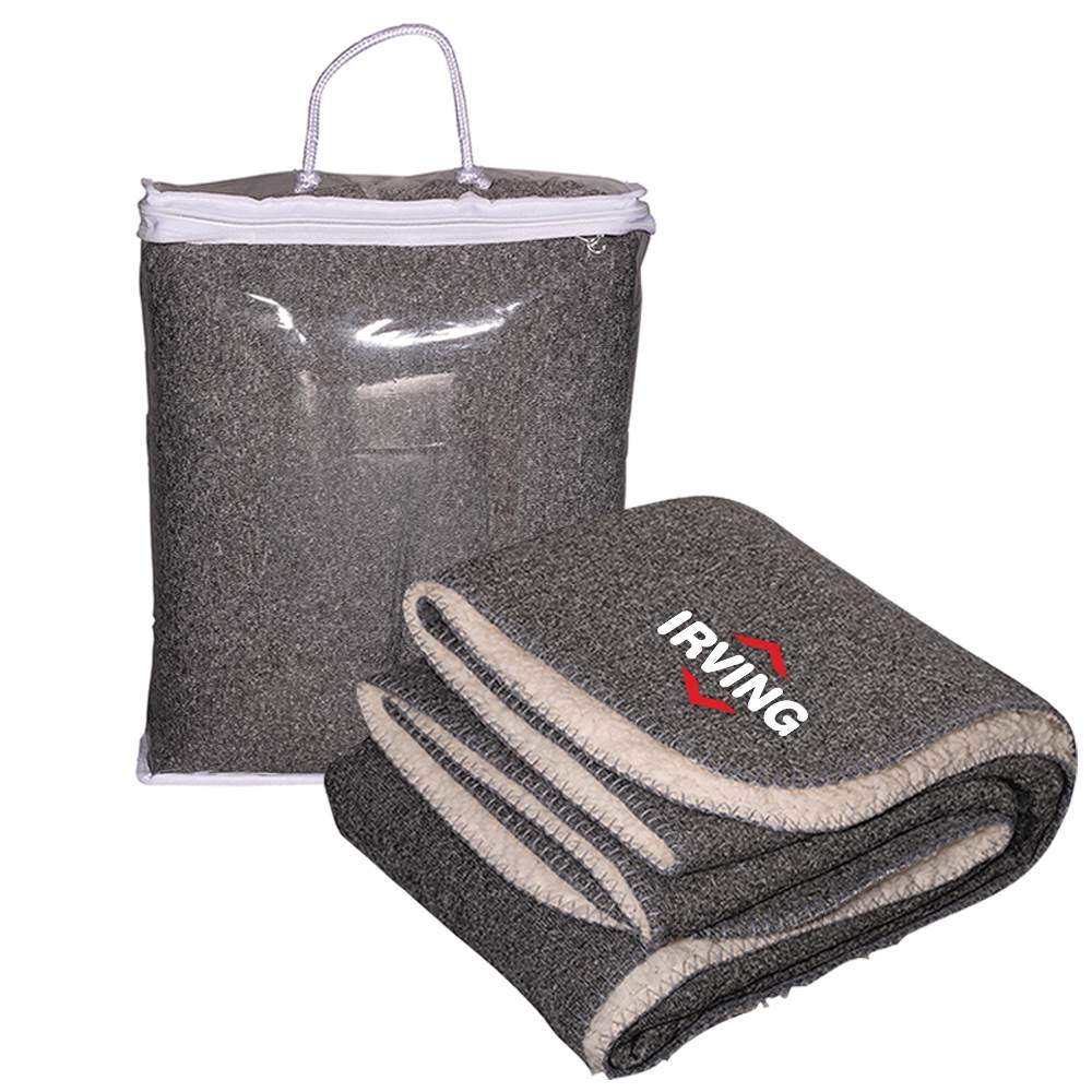 Thick Needle Sherpa Blanket - Personalization Available
