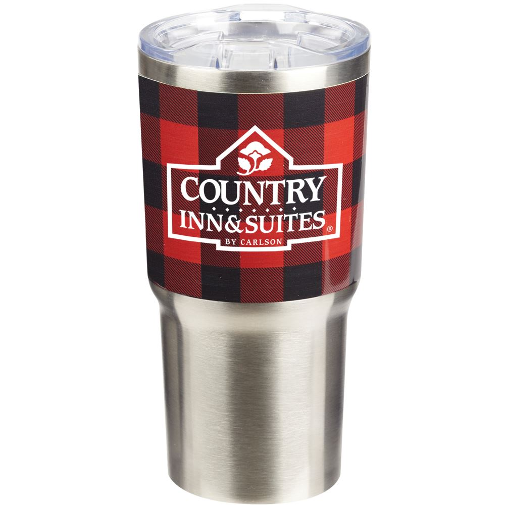 Buffalo Plaid Stainless Steel Vacuum Tumbler 20-Oz. - Personalization Available