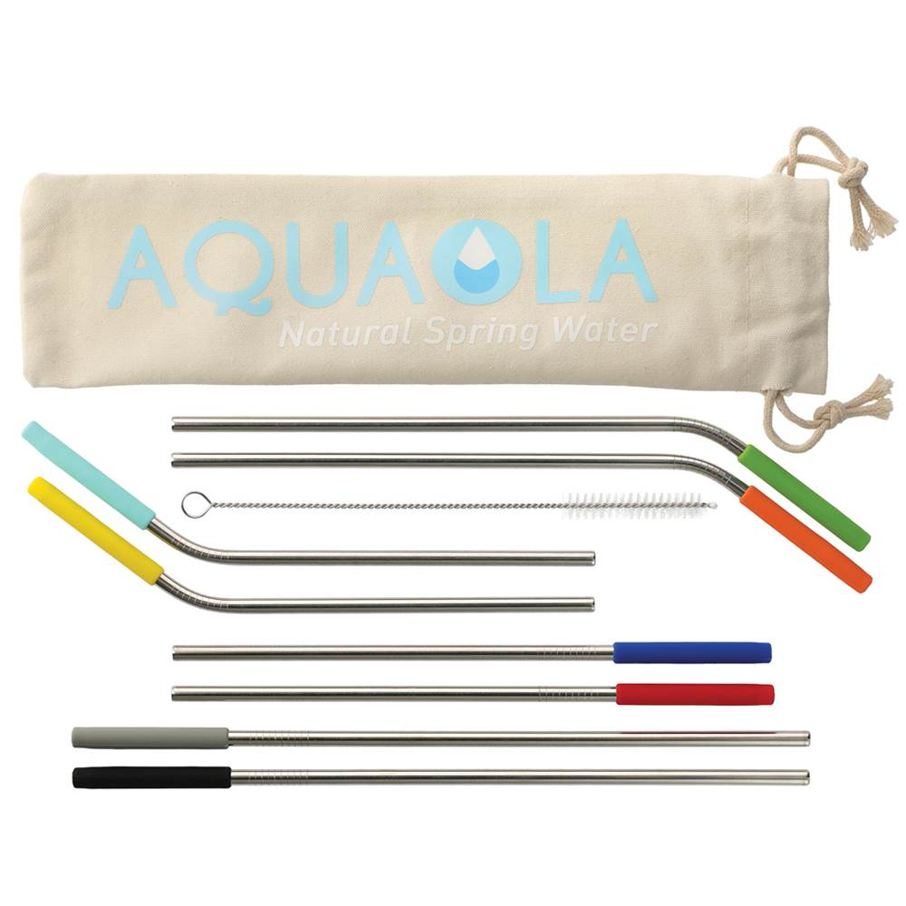 Reusable Stainless Straw 10-In-1 Set - Personalization Available