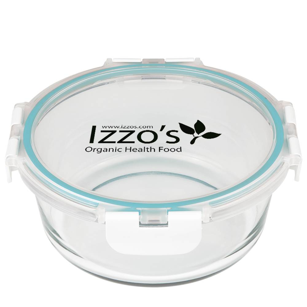 Fresh Prep Round Glass Food Container - Personalization Available