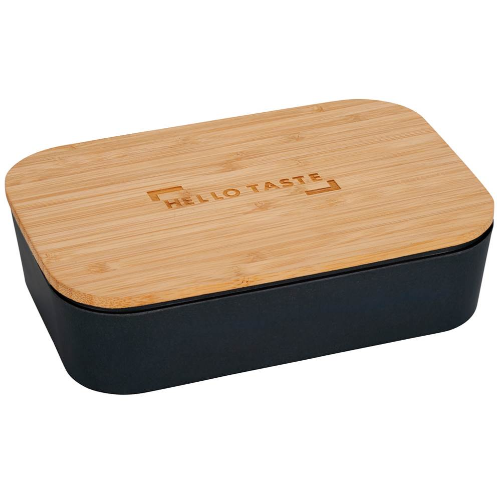 Bamboo Fiber Lunch Box with Cutting Board Lid - Laser Engraved Personalization Available