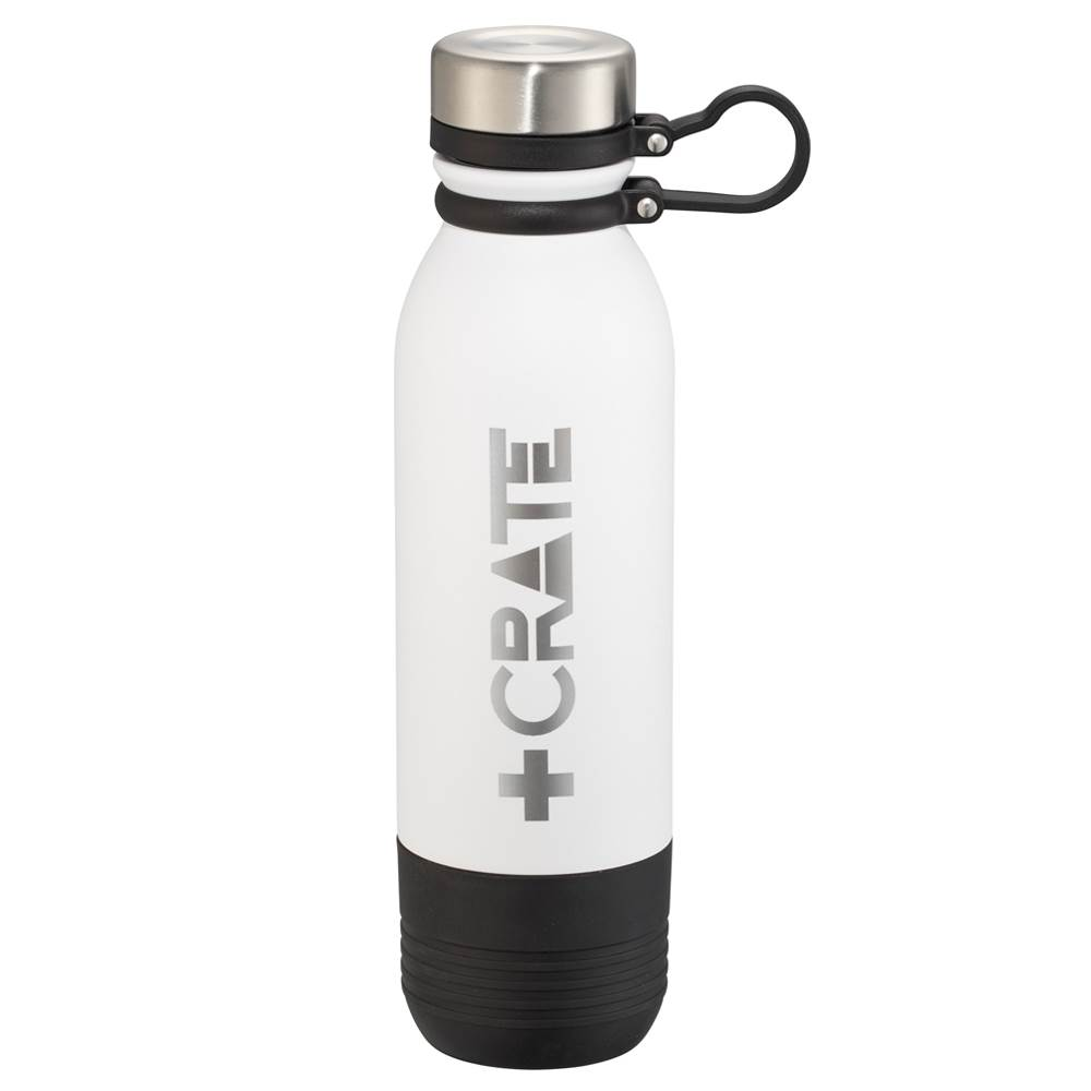 Colby Copper Vacuum Bottle With Storage 17-Oz. - Laser-Engraved Personalization Available