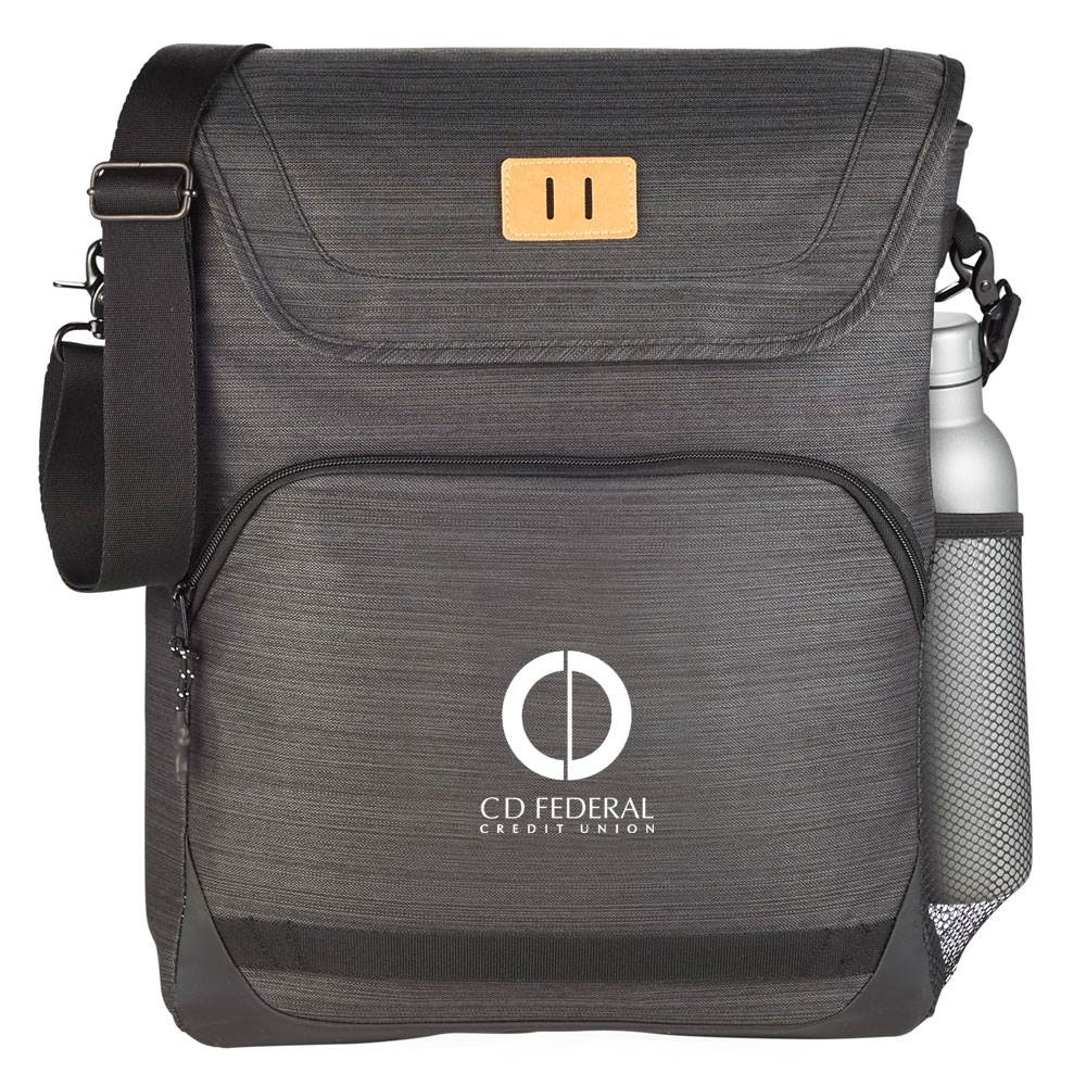 Charcoal Deluxe Laptop Messenger Tote - Personalization Available