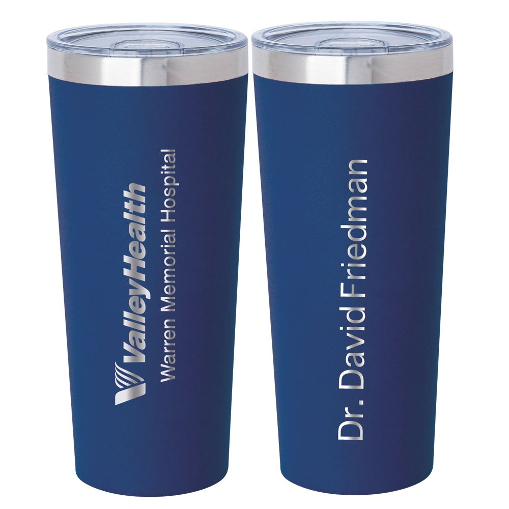 Biere Fire & Ice Stainless Steel Tumbler 22-Oz. - Laser Engraved Logo on Front PLUS Name on Back